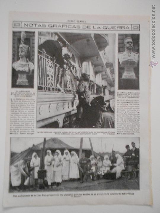 HLN- 1914- GUERRA EUROPEA, LONDRES, GENERAL HINDENBURG, CRUZ ROJA AUBERVILLIERS (Coleccionismo - Revistas y Periódicos Antiguos (hasta 1.939))