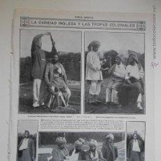 Coleccionismo de Revistas y Periódicos: HLN- 1914- CARIDAD INGLESA Y TROPAS INDIAS, SOLDADOS INDIOS, CRUZ ROJA. Lote 52721662