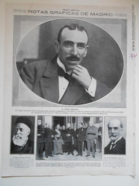 HLN- 1914- MADRID, DUNANT, FUNDADOR CRUZ ROJA, CRUZ LAUREADA DE SAN FERNANDO (Coleccionismo - Revistas y Periódicos Antiguos (hasta 1.939))