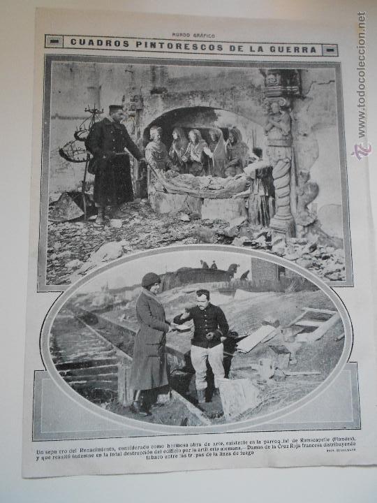 HLN- 1914- SEPULCRO DEL RENACIMIENTO FLANDES, DAMAS CRUZ ROJA FRANCESA (Coleccionismo - Revistas y Periódicos Antiguos (hasta 1.939))