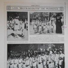 Coleccionismo de Revistas y Periódicos: HLN- 1914- BOYS SCOUTS DE RUMANIA, MILITARES. Lote 52722554