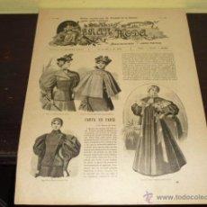 Coleccionismo de Revistas y Periódicos: REVISTA GRAN MODA Nº 54 - 10 MARZO DE 1896 -. Lote 52733160