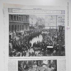 Coleccionismo de Revistas y Periódicos: HLN- 1914- GUERRA DE BÉLGICA, BRUSELAS, MILITARES. Lote 52764847