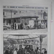 Coleccionismo de Revistas y Periódicos: HLN- 1914- CASINO DE BIARRITZ CONVERTIDO EN HOSPITAL MILITAR, CRUZ ROJA, SOLDADOS. Lote 52775070