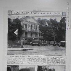 Coleccionismo de Revistas y Periódicos: HLN- 1914- LOS ALEMANES EN BÉLGICA, BRUSELAS, MILITARES. Lote 52775259