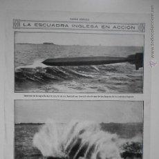 Coleccionismo de Revistas y Periódicos: HLN- 1914- ESCUADRA INGLESA EN ACCIÓN, TORPEDO, BUQUES INGLESES. Lote 52775353