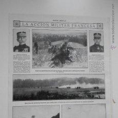Coleccionismo de Revistas y Periódicos: HLN- 1914- ACCIÓN MILITAR FRANCESA, ARTILLERÍA FRANCESA, CABALLERÍA, MILITARES. Lote 52781074