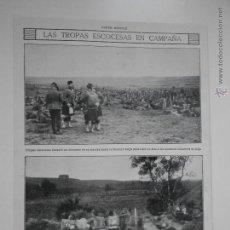 Coleccionismo de Revistas y Periódicos: HLN- 1914- TROPAS ESCOCESAS FRONTERA BELGA. Lote 52808115