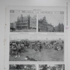 Coleccionismo de Revistas y Periódicos: HLN- 1914- BÉLGICA LA HEROICA, BRUSELAS, AMBERES. Lote 52808677