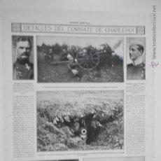 Coleccionismo de Revistas y Periódicos: HLN- 1914- COMBATE DE CHARLEROI, MILITARES. Lote 52809632