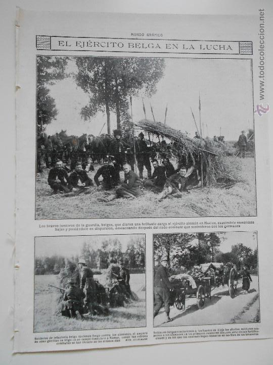 HLN- 1914- EJÉRCITO BELGA EN LA LUCHA, MILITARES (Coleccionismo - Revistas y Periódicos Antiguos (hasta 1.939))