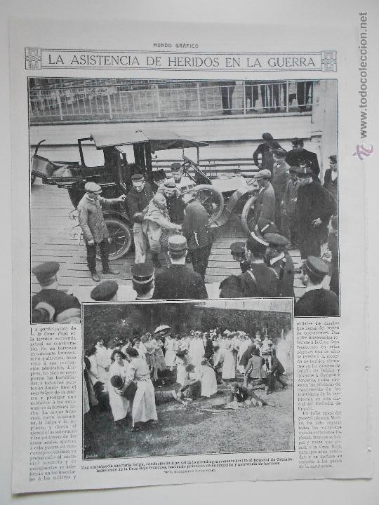 HLN- 1914- ASISTENCIA DE HERIDOS EN LA GUERRA, CRUZ ROJA FRANCESA (Coleccionismo - Revistas y Periódicos Antiguos (hasta 1.939))