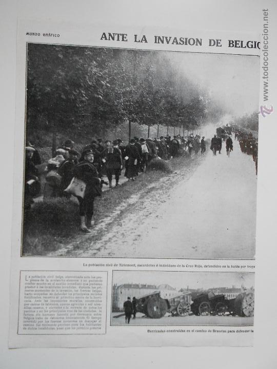 HLN- 1914- INVASIÓN ALEMANA DE BÉLGICA, BRUSELAS, CRUZ ROJA (Coleccionismo - Revistas y Periódicos Antiguos (hasta 1.939))