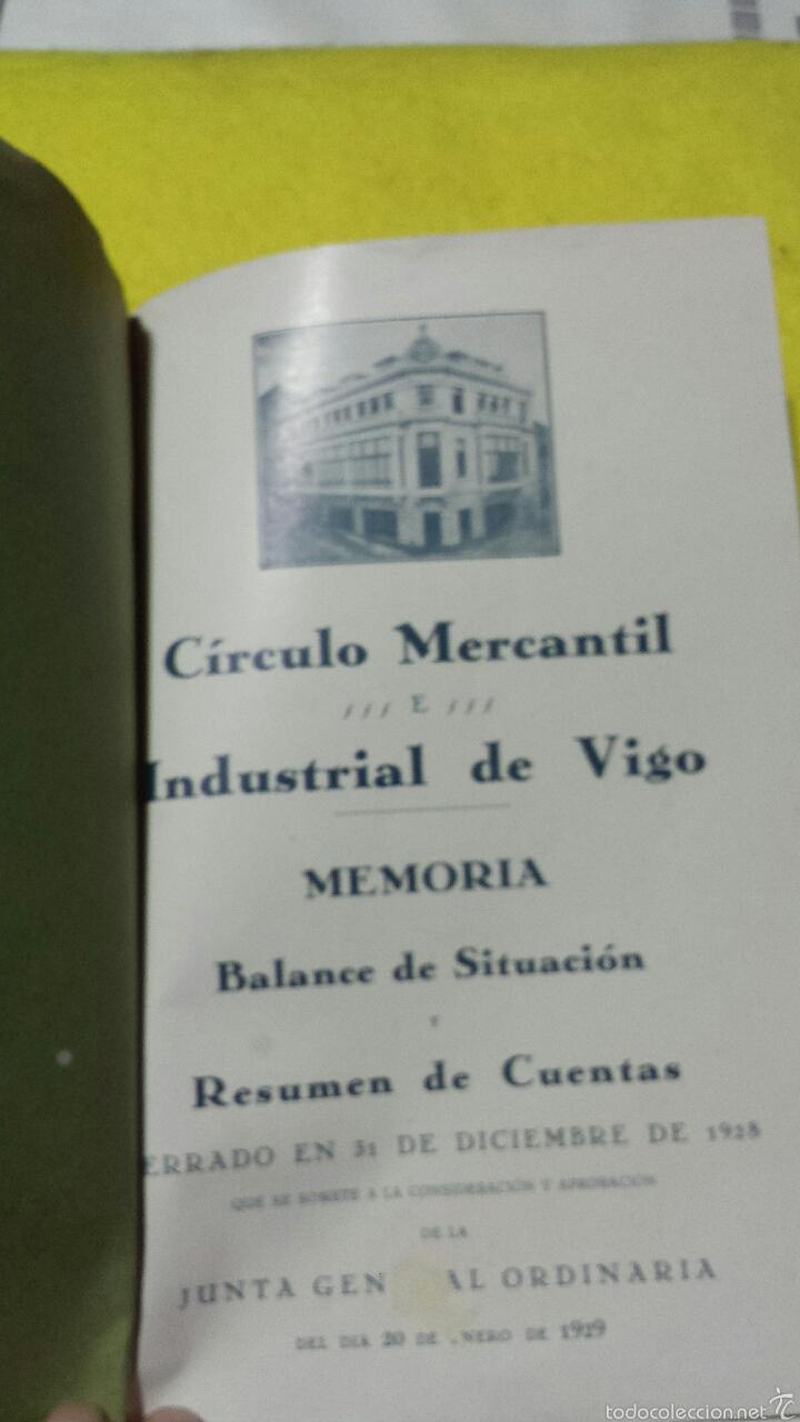 Coleccionismo de Revistas y Periódicos: CIRCULO MERCANTIL E INDUSTRIAL, VIGO, MEMORIA 1928 - - Foto 3 - 50747336