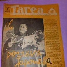 Coleccionismo de Revistas y Periódicos: TAREA. SEMANARIO DEL TRABAJO. 17 ENERO DE 1942. AÑO III. NUMERO 63. (DIVISIÓN AZUL, JAPÓN, VOLAR...). Lote 52888922