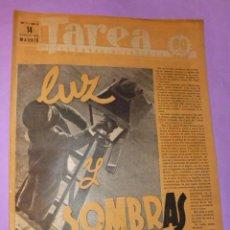 Coleccionismo de Revistas y Periódicos: TAREA. SEMANARIO DEL TRABAJO. 14 FEBRERO DE 1942. AÑO III. NUMERO 67. (DIVISIÓN AZUL, CINEMA, ..). Lote 52889293