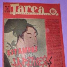 Coleccionismo de Revistas y Periódicos: TAREA. SEMANARIO DEL TRABAJO. 28 FEBRERO DE 1942. AÑO III. NUMERO 69. (DIVISIÓN AZUL, AUTOMOVIL, ..). Lote 52889426
