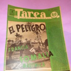 Coleccionismo de Revistas y Periódicos: TAREA. SEMANARIO DEL TRABAJO. 9 AGOSTO 1941. AÑO II. NUMERO 40.. Lote 52891799