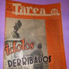 Coleccionismo de Revistas y Periódicos: TAREA. SEMANARIO DEL TRABAJO. 4 OCTUBRE 1941. AÑO II. NUMERO 48.. Lote 52891855