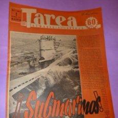 Coleccionismo de Revistas y Periódicos: TAREA. SEMANARIO DEL TRABAJO. 1 NOVIEMBRE 1941. AÑO II. NUMERO 52.. Lote 52891865