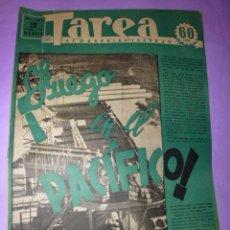 Coleccionismo de Revistas y Periódicos: TAREA. SEMANARIO DEL TRABAJO.20 DICIEMBRE 1941.AÑO II. NUMERO 59.(SUPLEMENTO DE LA DIVISIÓN AZUL). Lote 52892024