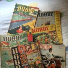 Coleccionismo de Revistas y Periódicos: REVISTA HOBBY LOTE 24 NÚMEROS - CONSTRUCCIONES- MÁGIA- FILATELIA. JARDINERÍA. NÁUTICA AÑOS 50. Lote 53127094