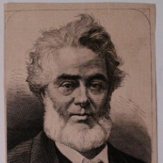 Coleccionismo de Revistas y Periódicos: GRABADO DE REVISTA ORIGINAL 1880. MR JULES FAVRE, MIEMBRO GOBIERNO DE LA DEFENSA NACIONAL, FALLECIDO. Lote 53138305