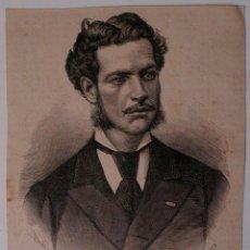 Coleccionismo de Revistas y Periódicos: GRABADO DE REVISTA ORIGINAL 1880. PINTOR RICARDO BALACA Y CANSECO, FALLECIDO EN ARAVACA. Lote 53138371
