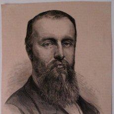 Coleccionismo de Revistas y Periódicos: GRABADO REVISTA ORIGINAL 1880. JUAN DE MADRAZO, ARQUITECTO FALLECIDO EN LEON. Lote 53138500