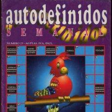 Coleccionismo de Revistas y Periódicos: AUTODEFINIDOS SEMANAL NUMERO 25 - AÑO 1998 -----(REF M1 E1DETRAS). Lote 53206353