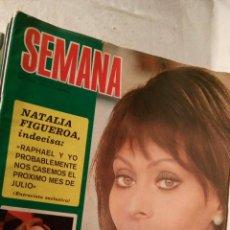 Coleccionismo de Revistas y Periódicos: REVISTA SEMANA 1687-1972. EN PORTADA: SOFIA LOREN, LICIA CALDERÓN. LOT200. Lote 53244217
