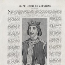 Coleccionismo de Revistas y Periódicos: * ENRIQUE EL DOLIENTE * EL PRÍNCIPE DE ASTURIAS / RUBRIK -1920. Lote 53269077