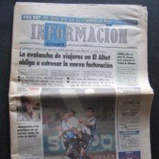 Coleccionismo de Revistas y Periódicos: PERIODICO DIARIO INFORMACION ALICANTE.18 DE AGOSTO 1996. Lote 53337261