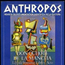 Coleccionismo de Revistas y Periódicos: ANTHROPOS. REVISTA DE DOCUMENTACIÓN CIENTÍFICA DE LA CULTURA, Nº 100. BARCELONA, 1989, 64 + XXII PP.. Lote 53341579