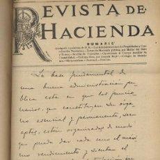 Coleccionismo de Revistas y Periódicos: REVISTA DE HACIENDA. AÑOS 1930 Y 1931 COMPLETOS. MONARQUIA Y REPUBLICA. Lote 53347308