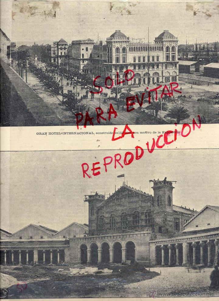 BARCELONA 1888 EXPOSICION UNIVERSAL HOTELÑ INTERNACIONAL HOJA REVISTA (Coleccionismo - Revistas y Periódicos Antiguos (hasta 1.939))