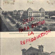 Coleccionismo de Revistas y Periódicos: BARCELONA 1888 EXPOSICION UNIVERSAL HOTELÑ INTERNACIONAL HOJA REVISTA. Lote 53353598
