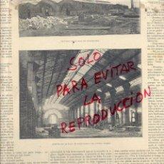 Coleccionismo de Revistas y Periódicos: BARCELONA 1888 EXPOSICION UNIVERSAL SALA DE MAQUINARIAS HOJA REVISTA. Lote 53353621