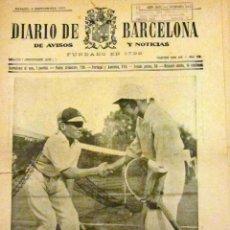 Coleccionismo de Revistas y Periódicos: DIARIO DE BARCELONA 9 SEPTIEMBRE 1933. Lote 53378488