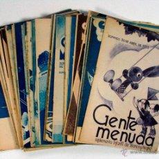Coleccionismo de Revistas y Periódicos: CONJUNTO DE 55 NUMEROS DE GENTE MENUDA. BLANCO Y NEGRO. AÑOS 1933 Y 1934. ELENA FOTUN. REPUBLICA. Lote 53382776