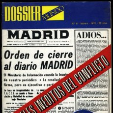 Coleccionismo de Revistas y Periódicos: DOSSIER - MUNDO, Nº 6 - FEBRERO 1972, 82 PÁGINAS. EDICIONES MUNDO. Lote 53420798
