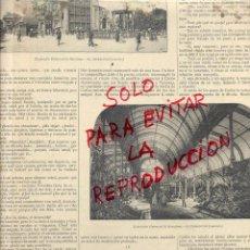 Coleccionismo de Revistas y Periódicos: EXPOSICION UNIVERSAL 1888 BARCELONAUMBRACULO HOJA REVISTA HOJA REVISTA. Lote 53453882