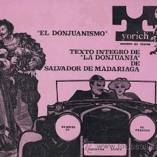 Coleccionismo de Revistas y Periódicos: YORICK (REVISTA DE TEATRO Nº 28). Lote 53467962