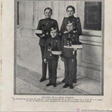 Coleccionismo de Revistas y Periódicos: EL PRÍNCIPE DE ASTURIAS Y SUS HERMANOS: INFANTES JAIME, JUAN Y GONZALO - 1920. Lote 53504249