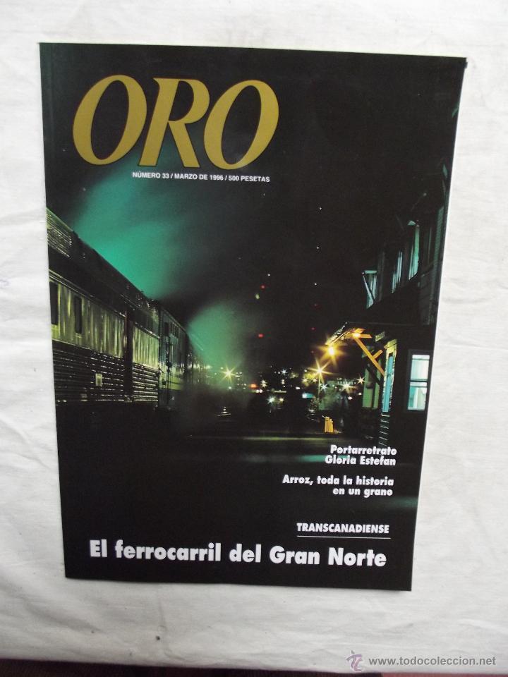 REVISTA ORO Nº 33 MARZO 1996 (Coleccionismo - Revistas y Periódicos Modernos (a partir de 1.940) - Otros)