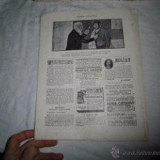 Coleccionismo de Revistas y Periódicos: NOTA COMICA POR XAUDARO .HOJA DE REVISTA BLANCO Y NEGRO 1902 . Lote 53520002