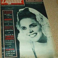 Coleccionismo de Revistas y Periódicos: DIGAME Nº 1418 DE MARZO 1967- GRAN REPORTAJE DE MARISOL VESTIDA DE NOVIA,2PG Y 4 FOTOS- VER ENVIOS. Lote 53542590