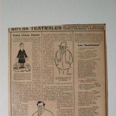 Coleccionismo de Revistas y Periódicos: HOJA REVISTA ORIGINAL 1912. ESLAVA, CÓMICO, ESPAÑOL, POR CARAMANCHEL.. Lote 53567382