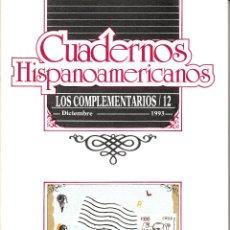 Coleccionismo de Revistas y Periódicos: CUADERNOS HISPANOAMERICANOS. LOS COMPLEMENTARIOS/12 DICIEMBRE 1993. CENTENARIO VICENTE HUIDOBRO.. Lote 53573947