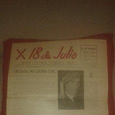 Coleccionismo de Revistas y Periódicos: 18 DE JULIO. DICIEMBRE 1958. (PUBLICACION CARLISTA, CARLISMO, REQUETÉ, PROPAGANDA, PERIÓDICO). Lote 53586399